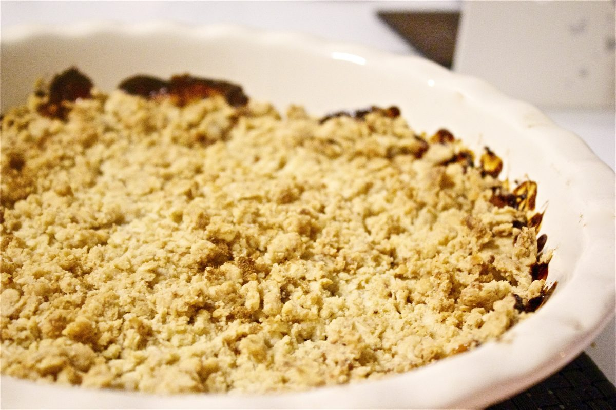 apple, sultana, crumble, gluten free