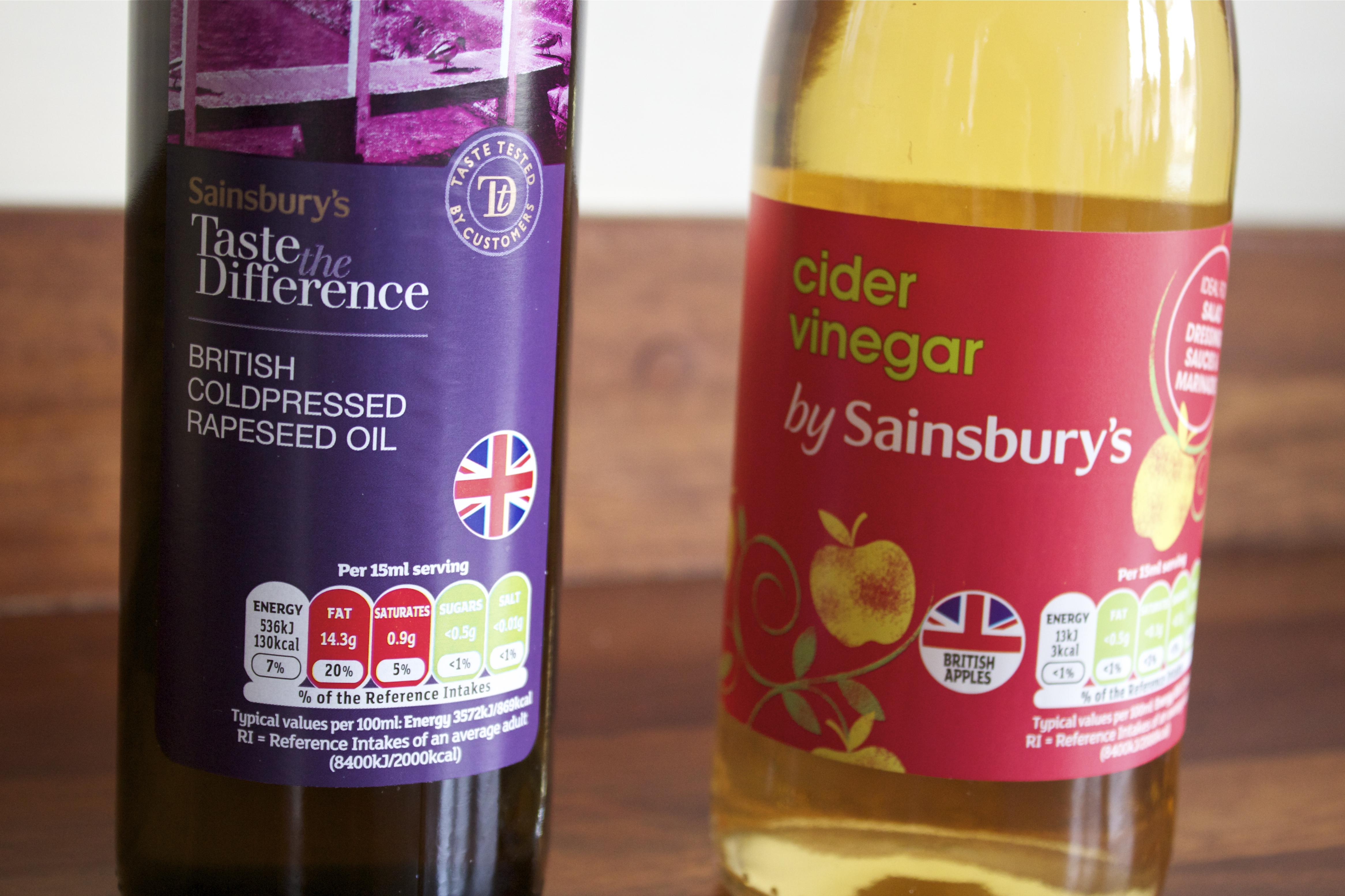 Sainsbury's, Rapeseed Oil, Cider Vinegar